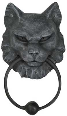 Cat Gargoyle door knocker 7""