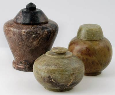 set of 3 Gini Jars soapstone