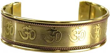 Om Engraved Copper and Brass