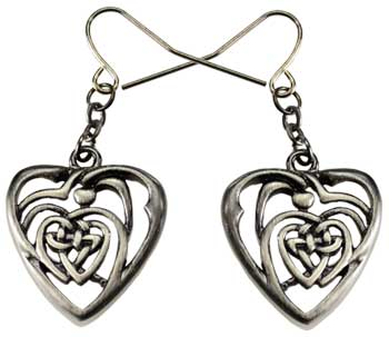 Celtic Heart earring