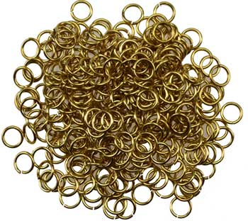 1 Lb Jump Rings, yellow plated