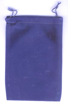 Bag Velveteen 5 x 7 Blue